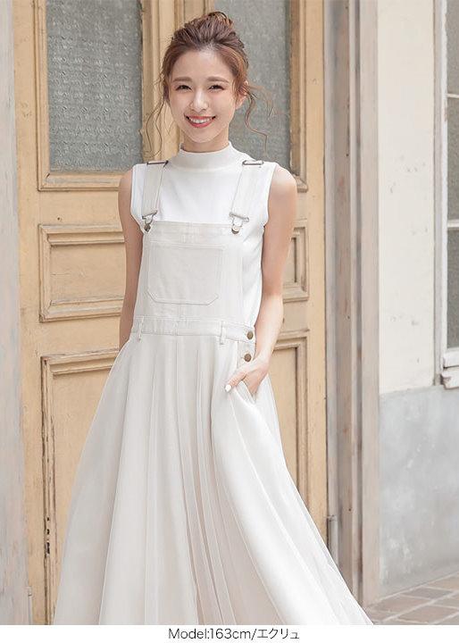 日櫃熱銷率性甜美紗感吊帶連身裙