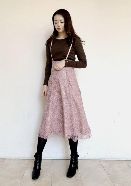 LuxyStar日本代購 MISCH MASCH折扣款蕾絲吊帶裙+水鑽袖內搭兩件組(原價3600元)